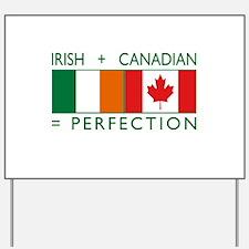 Irish Canadian heritage flag Yard Sign