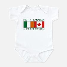Irish Canadian heritage flag Infant Bodysuit