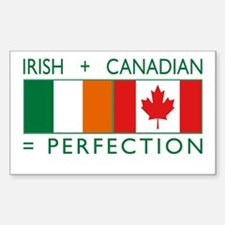Irish Canadian heritage flag Rectangle Decal