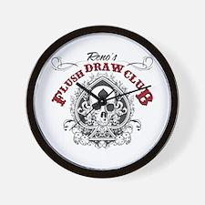 Flush Draw Club Wall Clock