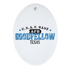 Goodfellow Air Force Base Oval Ornament