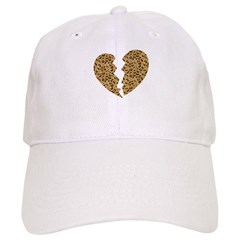 Broken Leopard Heart Baseball Cap