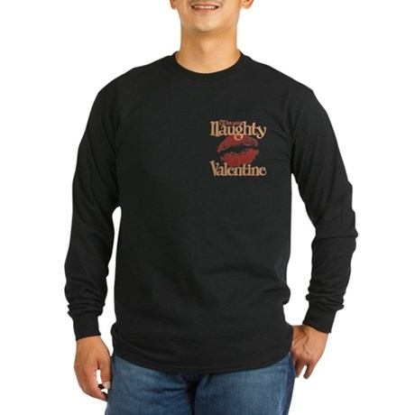 Naughty Valentine Long Sleeve Dark T-Shirt
