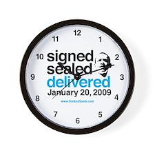 Signed, Sealed, Delivered Wall Clock