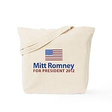 Mitt Romney American Flag Tote Bag