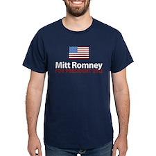 Mitt Romney American Flag T-Shirt