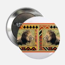 """Lion #2 2.25"""" Button"""