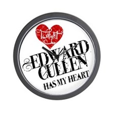 Edward Has My Heart Wall Clock