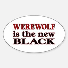 Werewolf is the New Black Oval Decal