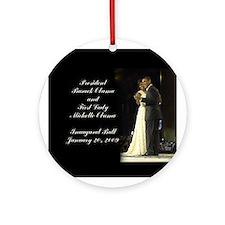 Obama Inaugural Dance Ornament (Round)