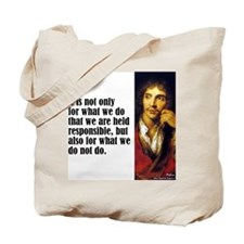 "Moliere ""Responsible"" Tote Bag"