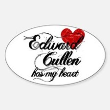 Edward Has My Heart Oval Decal