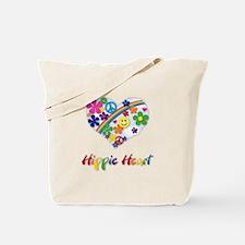 Hippie Heart Tote Bag