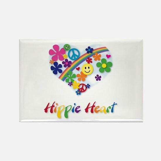 Hippie Heart Rectangle Magnet