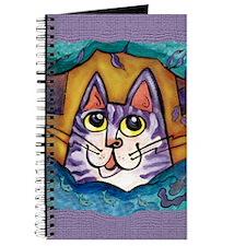 Fun Happy Purple Cat Journal