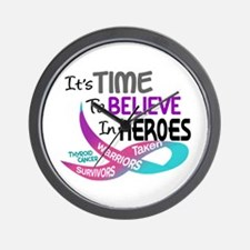 Time To Believe THYROID CANCER Wall Clock