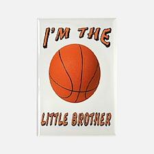 I'm The Little Brother Basket Rectangle Magnet