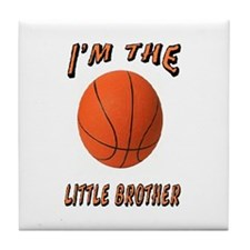 I'm The Little Brother Basket Tile Coaster