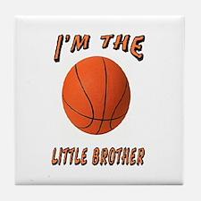 I'm The Little Brother Basket Tile Coaster