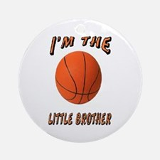 I'm The Little Brother Basket Ornament (Round)