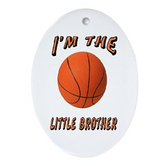 I'm The Little Brother Basket Oval Ornament