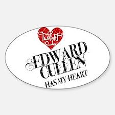 Edward Has My Heart Oval Decal