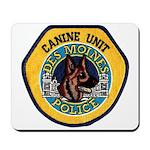 Des Moines Police K9 Mousepad