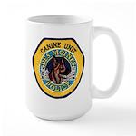 Des Moines Police K9 Large Mug