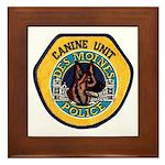 Des Moines Police K9 Framed Tile