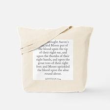 LEVITICUS  8:24 Tote Bag
