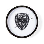 Cocoa Police Canine Wall Clock