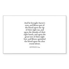 LEVITICUS 8:24 Rectangle Decal