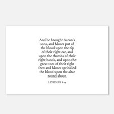 LEVITICUS  8:24 Postcards (Package of 8)