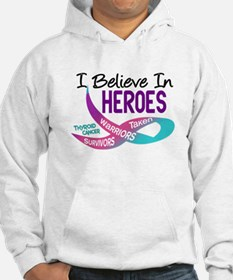 I Believe In Heroes THYROID CANCER Hoodie