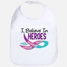 I Believe In Heroes THYROID CANCER Bib