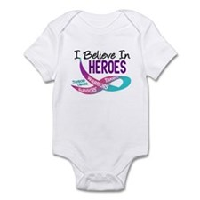 I Believe In Heroes THYROID CANCER Infant Bodysuit