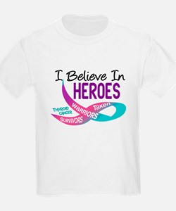 I Believe In Heroes THYROID CANCER T-Shirt