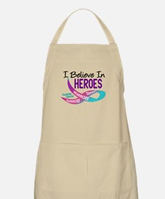 I Believe In Heroes THYROID CANCER BBQ Apron