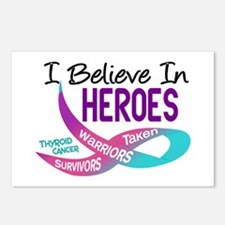 I Believe In Heroes THYROID CANCER Postcards (Pack