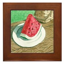 Slice of Watermelon Framed Tile