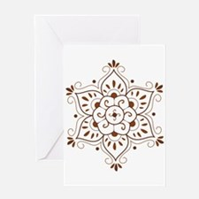 Henna Mandala Greeting Card