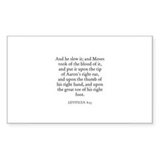 LEVITICUS 8:23 Rectangle Decal