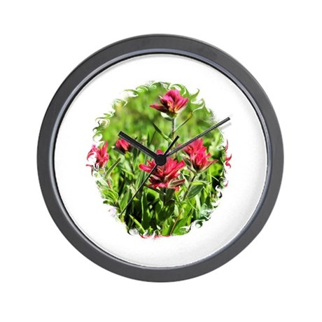 Indian Paintbrushes4 Wall Clock