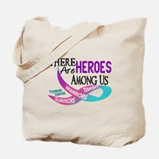 Heroes Among Us THYROID CANCER Tote Bag