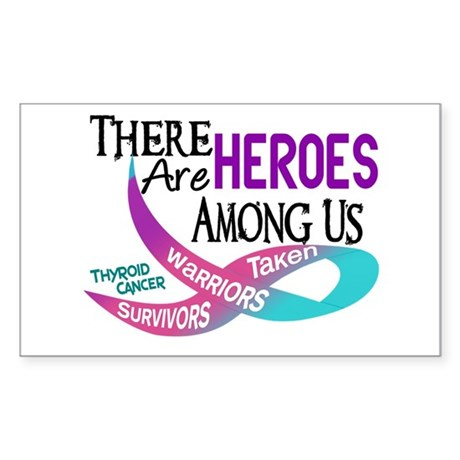 Heroes Among Us THYROID CANCER Rectangle Sticker