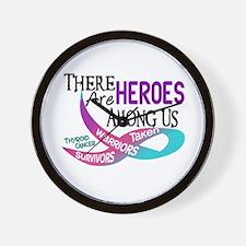 Heroes Among Us THYROID CANCER Wall Clock