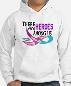 Heroes Among Us THYROID CANCER Hoodie