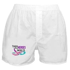 Heroes Among Us THYROID CANCER Boxer Shorts