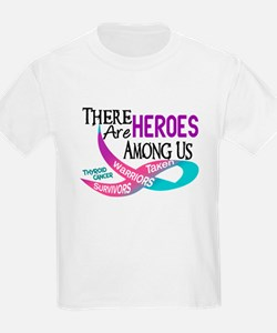 Heroes Among Us THYROID CANCER T-Shirt