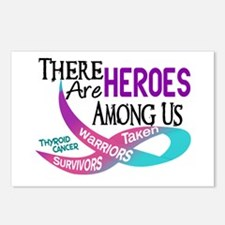 Heroes Among Us THYROID CANCER Postcards (Package
